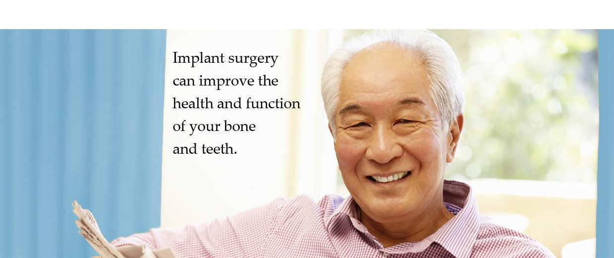 Implant surgery can improve the health and function of your bone and teeth.